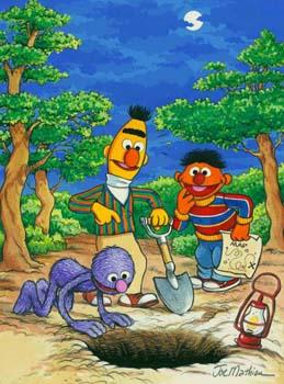 Ernie Bert and Grover Treasure Hunt