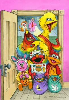 Trick or Treat Poster Sesame Street