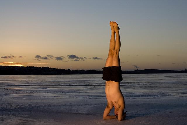 Do yoga inversions drain lymph?