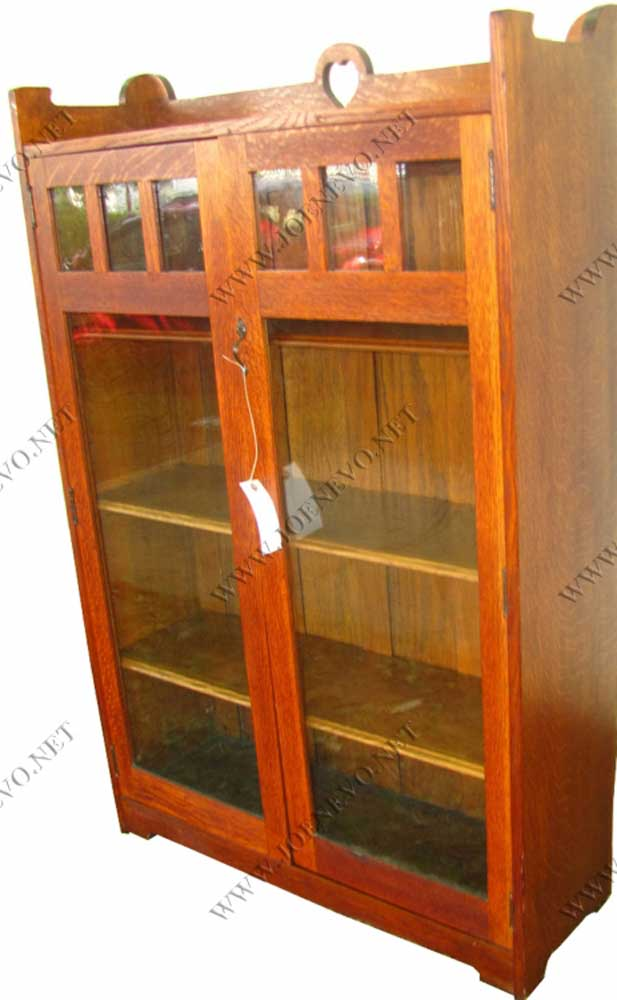 Antique Stickley Bros Two Door Bookcase Joenevo