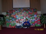 """476 """"gifts of love"""" ready for the dedication service the next day during Sunday service."""