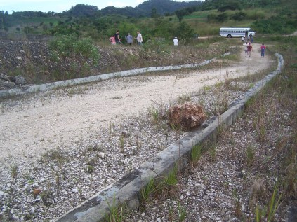 Concrete is not cheap in Belize. It is unfathomable how much money was sunk into the curbs in the abandoned development.