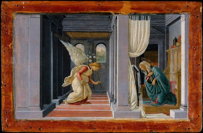 The Annunciation (ca. 1485-92), Botticelli, The Metropolitan Museum of Art, Robert Lehman Collection, 1975