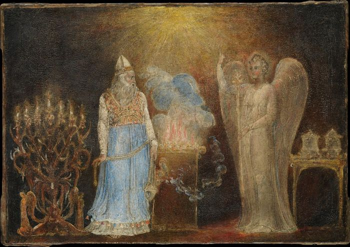 The Angel Appearing to Zacharias (1799–1800), William Blake, Metropolitan Museum of Art