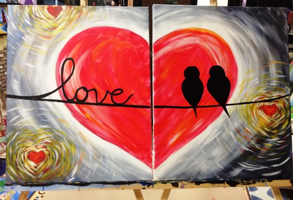Valentines Day Couples Canvas Special - Art Event in Fort ...