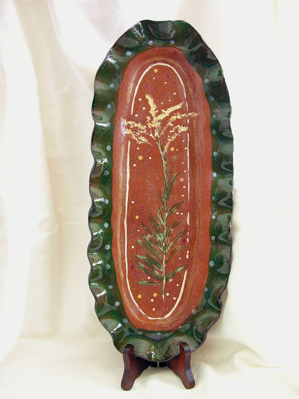 Cecelia Pippin Pottery - Goldenrod Dish - 13 inches