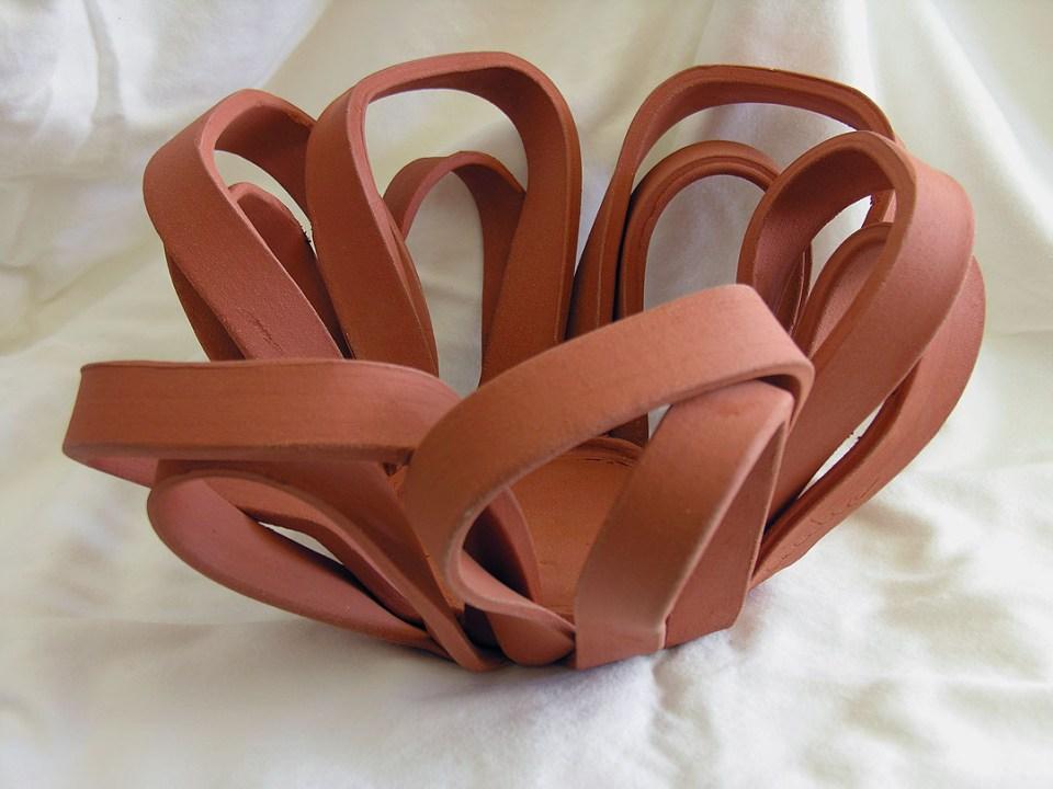 Cecelia Pippin Pottery - Open Ribbon Planter - 15 inches