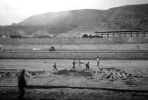 Schulweg, Gansu, 2001