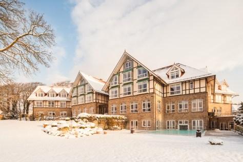 Alter Meierhof im Schnee
