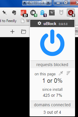 ublock, an ad blocker for desktop browsers, by Chris Aljoudi