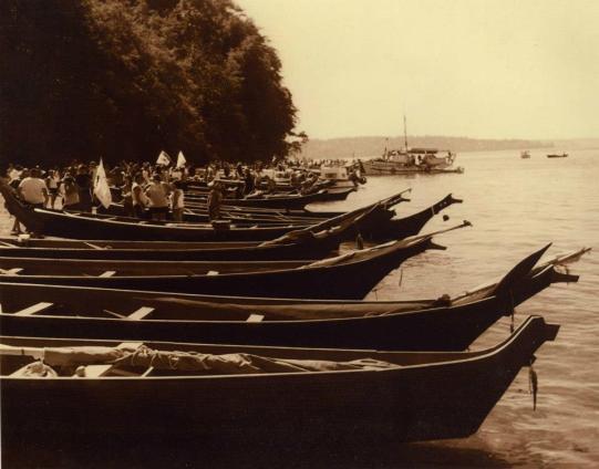 Canoe Bows on Hat Island