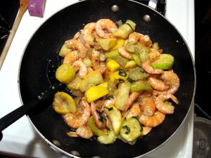 Stir fry - veggies and shrimp