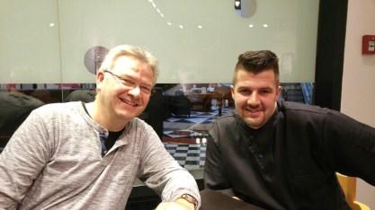 Steve Dumke vom Tastewerk (rechts)