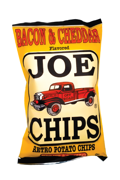 Joe kettle cooked potato chips bacon and cheddar