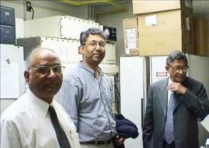 Banerji`s with Dr. Sen Pathak & Dr. Subrata Sen at UT MDACC