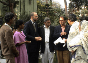 Dr. Jeffrey D. White met cancer patients at the PBHRF clinic in Kolkata