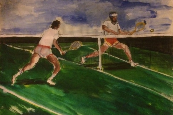 Athletes  Paintings by Joe Wilder MD