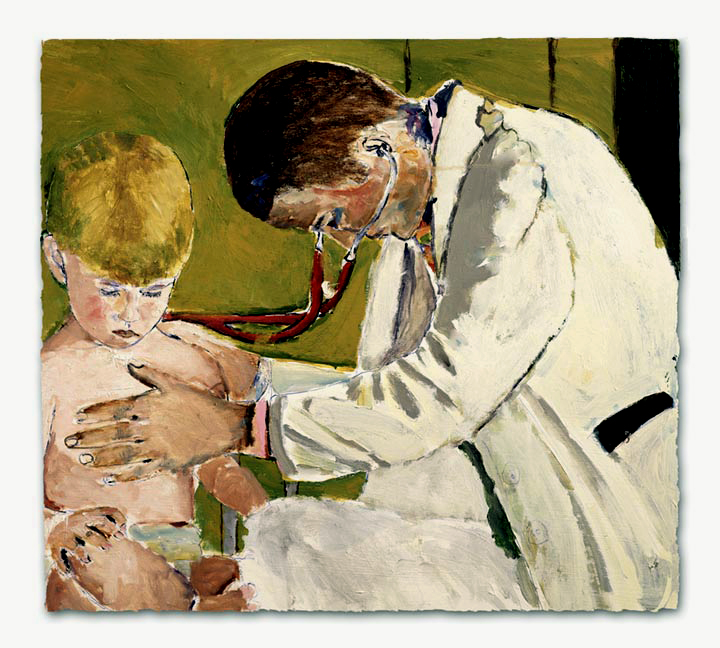 Pediatrician Caring For Patient   - click to view in detail