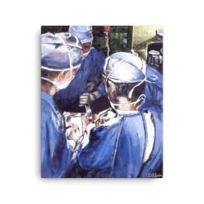 Surgeons Deep in Surgery Canvas Print Medical Artwork