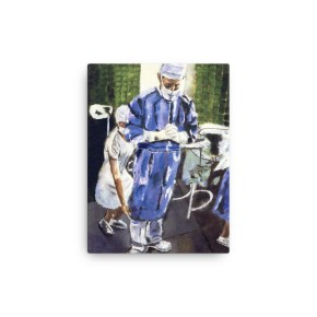 Magic Hands of Surgeon Canvas Print 12 x 16