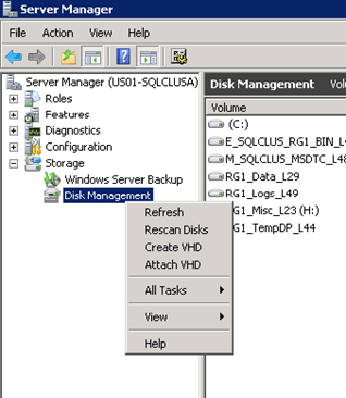 Adding a new disk to a SQL Server Cluster Instance | The SQL