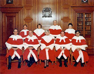 Canadian Supreme Court Judges as of December 2004.