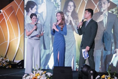 Ms. Amy Perez (Strike Endorser) as host of the night together with Papa Jack, and Ms. Jackie Rice (Robust Endorser).