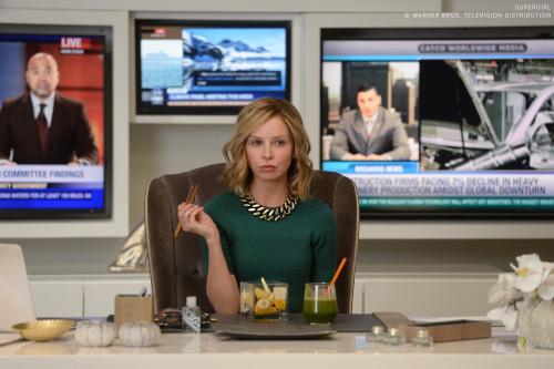Calista Flockhart as media mogul and fierce taskmaster Cat Grant