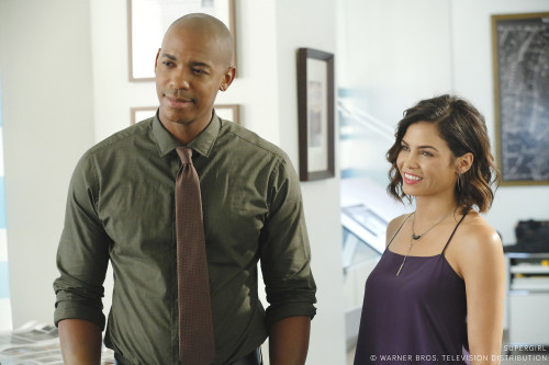 Mehcad Brooks as James Olsen and Jenna Dewan-Tatum as Lucy Lane
