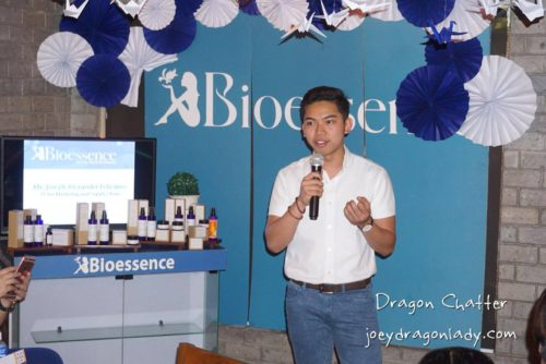 Bioessence VP for Marketing Joseph Feliciano