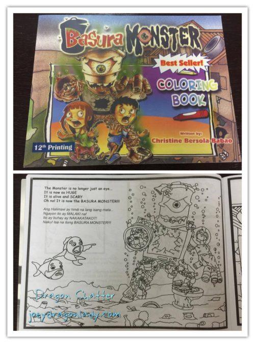 Basura Monster Coloring Book Envirnoment Summit 2016