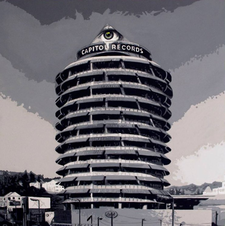 Pop Art, art, Joey Maas, Capitol Records, Hollywood illuminati, Palm Springs Art