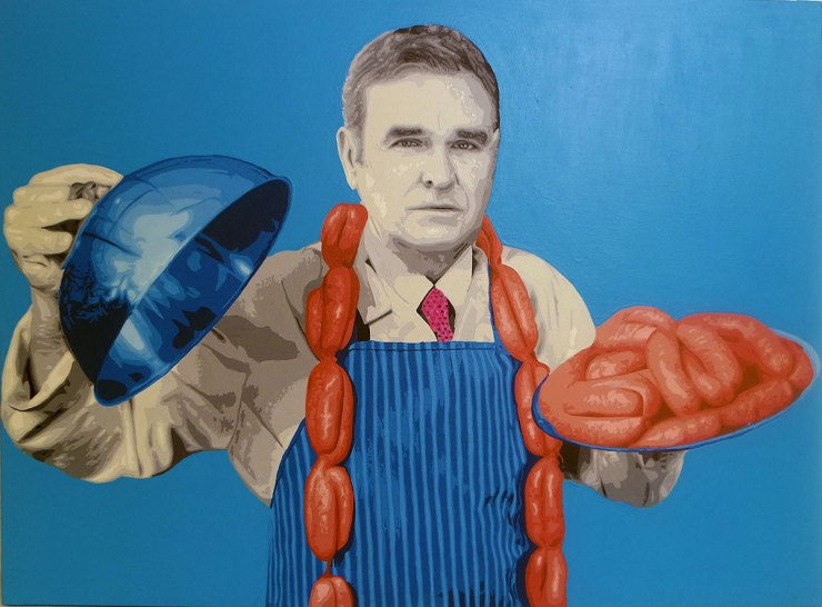 Pop Art, art, Joey Maas, Palm Springs Art, Morrissey, the smiths, meat is murder, vegan, vegetarian,