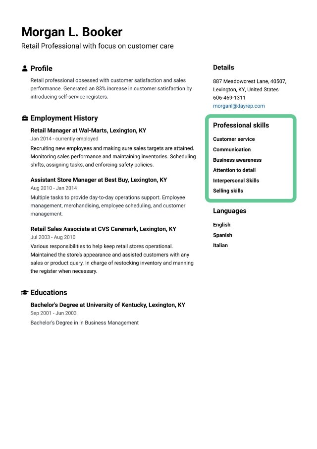 Key Skills For a Resume [Best List of Examples & How to] - Jofibo
