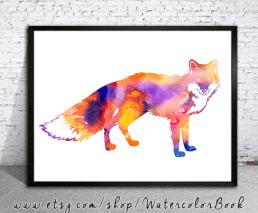 foxwatercolour using mask