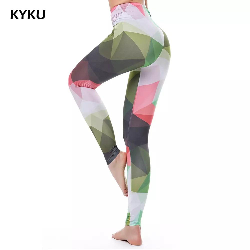 c28c09d1fd High Waist Colorful Leggings For Women Fitness Legging Push Up Leggings  Women Camouflage Leggins Sexy Fashion Slim Jeggings KYKU