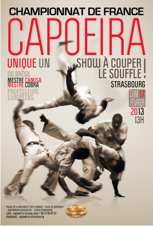 championnat de france abada capoeira 2013 avec Mestre Camisa et Mestre Cobra