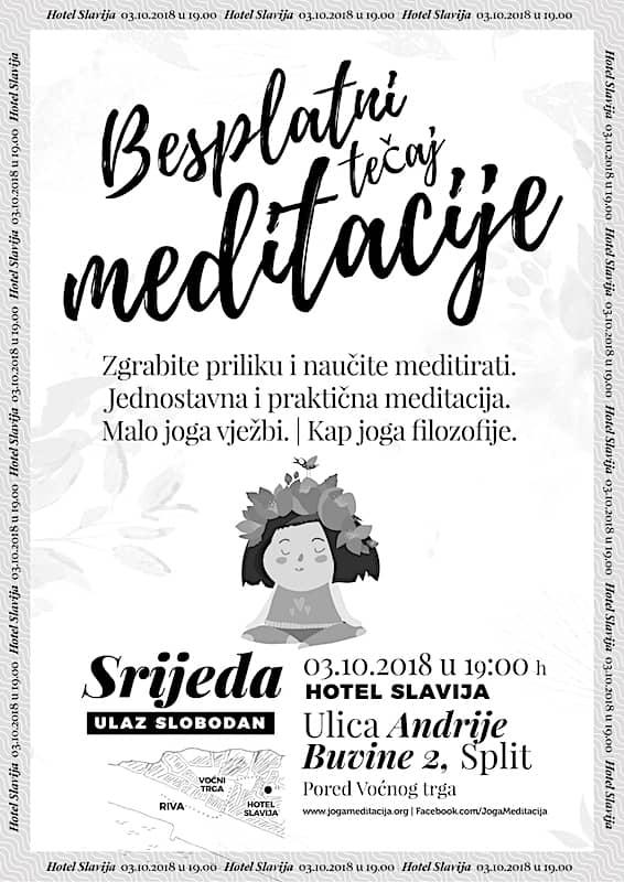 Besplatni tečaj meditacije - Zgrabite priliku i naučite meditirati