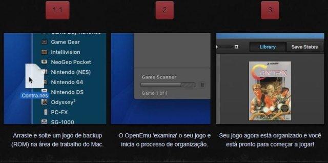 Como organizar os jogos no Multi-Emulador para Mac Os