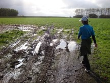 ... and more mud. Planning the best path through.
