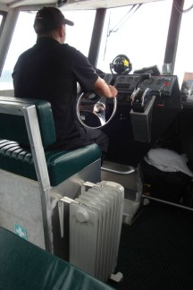 More kiwi ingenuity - 'central heating system' on the water taxi.