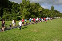Running along the Bridle Track next to the Manawatu River.
