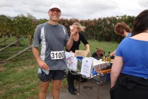 Water station #4 - Gerry happy with his Sav.