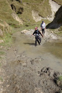 An early river crossing, giving a taste of what was to come.