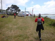 The finish at Queens Drive, about 500 metres short of Lyall Bay.