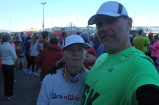Gerry and I shortly before the start. A bit of a nip in the air, but overall very good conditions.