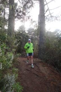Gerry speeding down the hills.