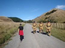 Firefighters doing the 10km as training for the Sky Tower challenge.