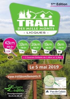 affiche trail des mille monts 2019