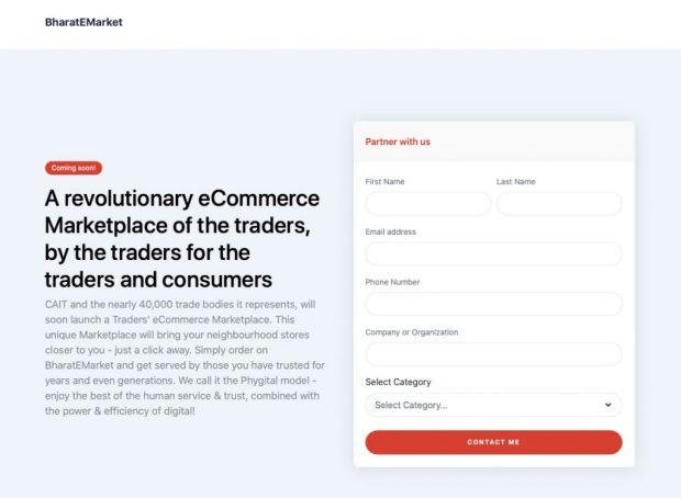 BharateMarket Marketplace website
